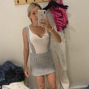 Carmar stripped denim & white skirt